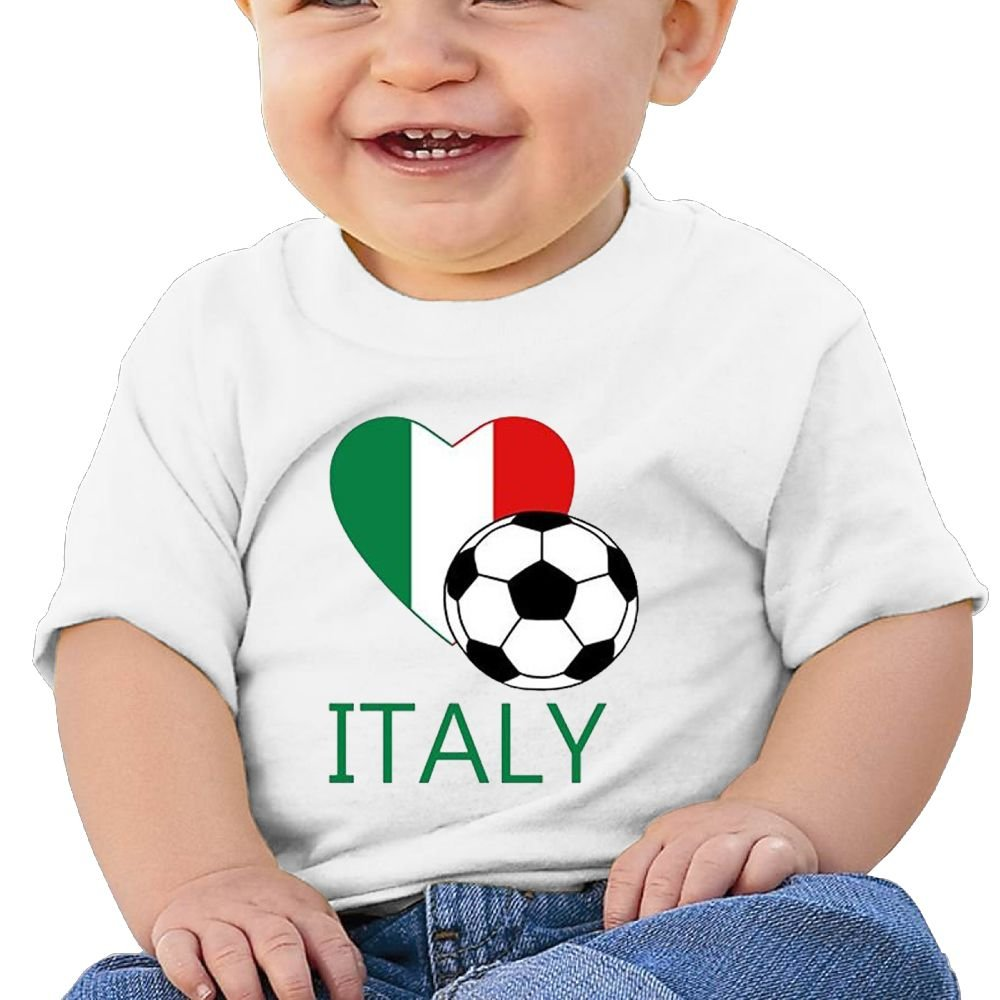 REBELN Love Italy Soccer Football Cotton Short Sleeve T Shirts For Baby Toddler Infant