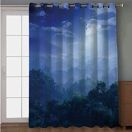 Amazon Com Iprint Blackout Patio Door Curtain Fantasy House