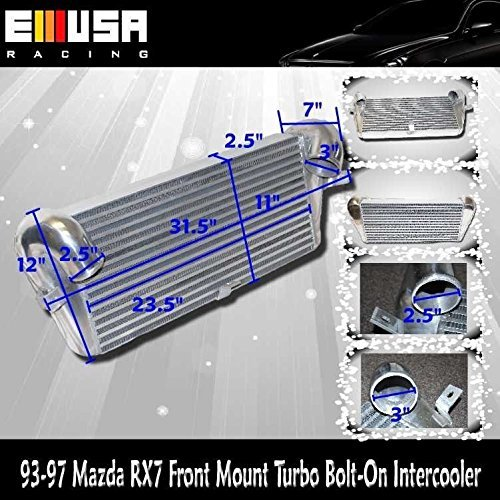Amazon.com: 93-97 Mazda RX7 Front Mount Bolt-on Turbo Intercooler: Automotive