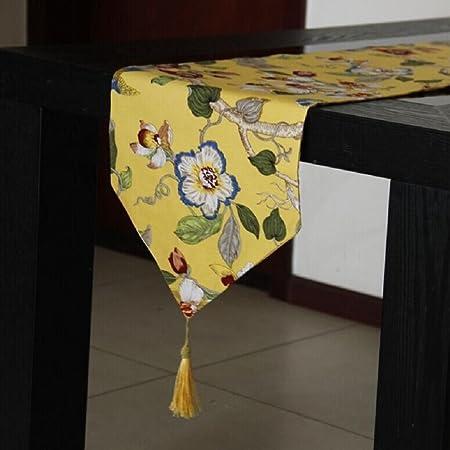 Ld P Klassische High End Tischlaufer Bambus Baumwoll Vogel Tisch