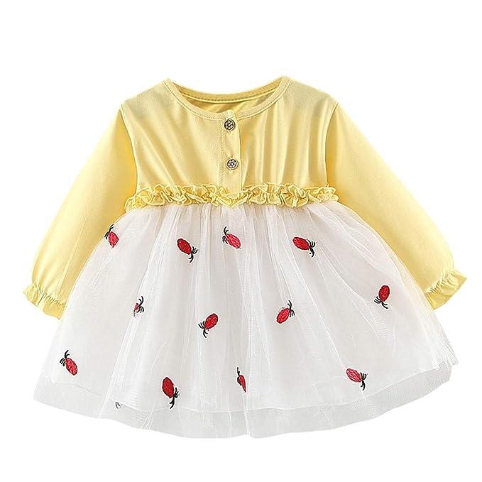 Baiomawzh Ropa Bebe Niña Invierno Recien Nacido Vestidos Niñas Mini ...