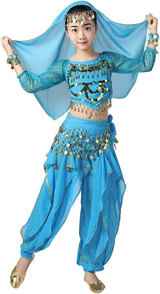 Girl Belly Dance Perfomance Costume Carnival Outfit Party Arabian Princess Dress