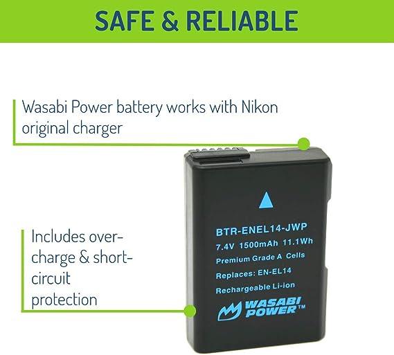 14 en-el14 de 14 enel Batería 2x con info chip para Nikon en-el-14 enel