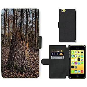 PU Cuir Flip Etui Portefeuille Coque Case Cover véritable Leather Housse Couvrir Couverture Fermeture Magnetique Silicone Support Carte Slots Protection Shell // F00003236 Puryear Tennessee // Apple iPhone 5C
