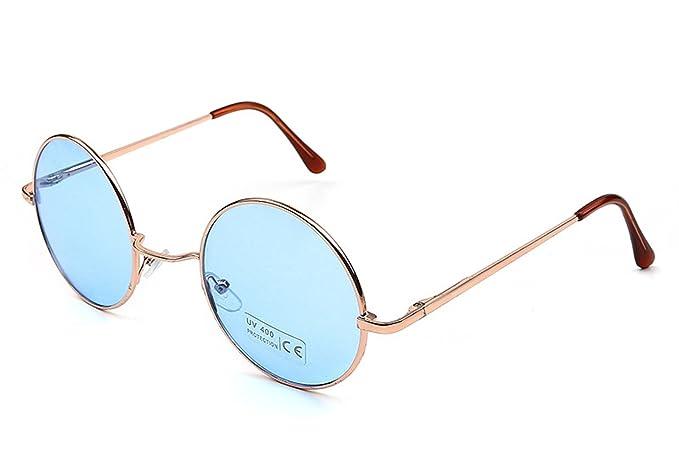 ba09d0d29ff Caixia Women s SJT-TZ Colored Tinted Lens Retro Metal Round Sunglasses  (blue