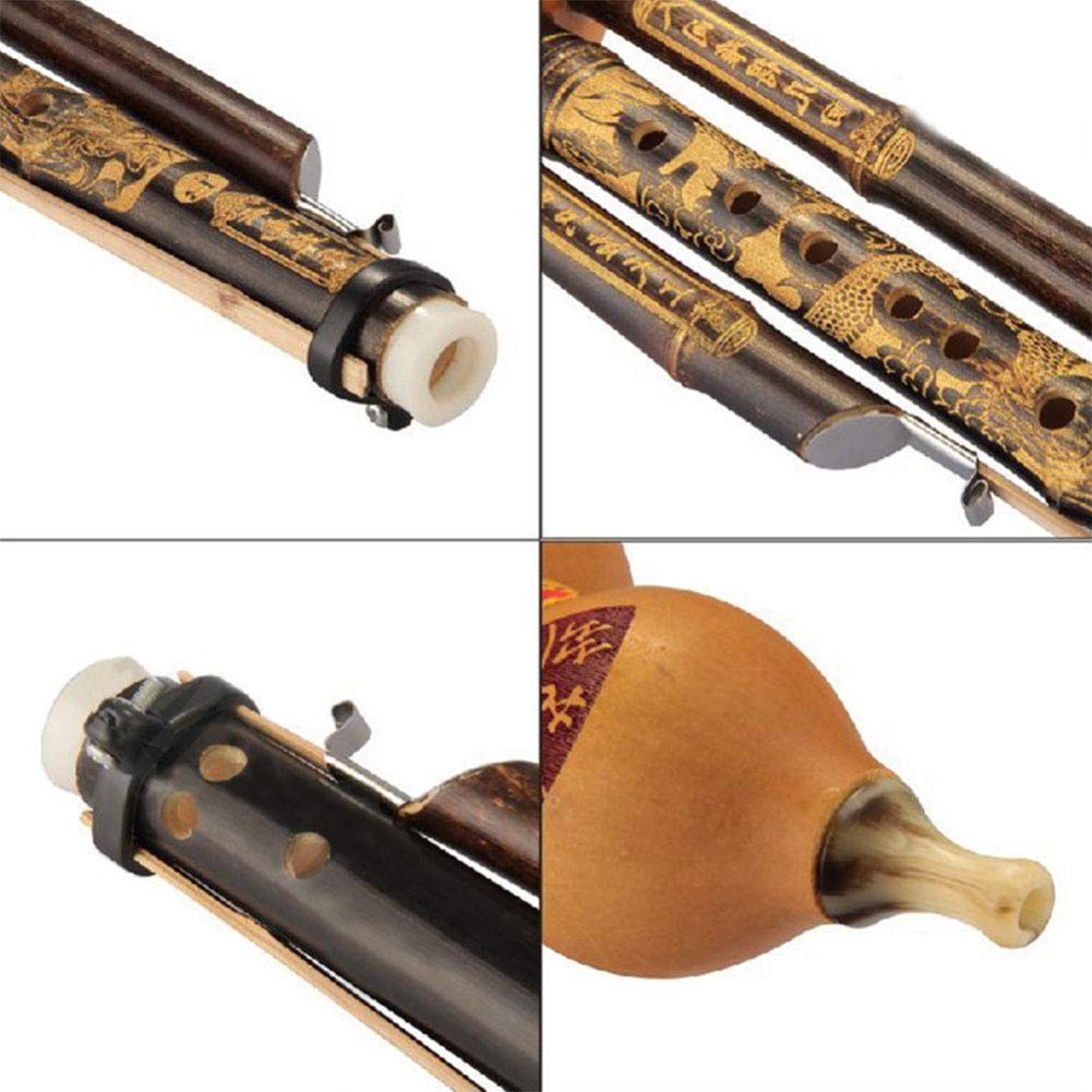 XuBa Cinese Handmade Hulusi Gourd Cucurbit Flute Etnico Strumento Musicale C Key BB Tone per Principianti Amanti della Musica BB Tone