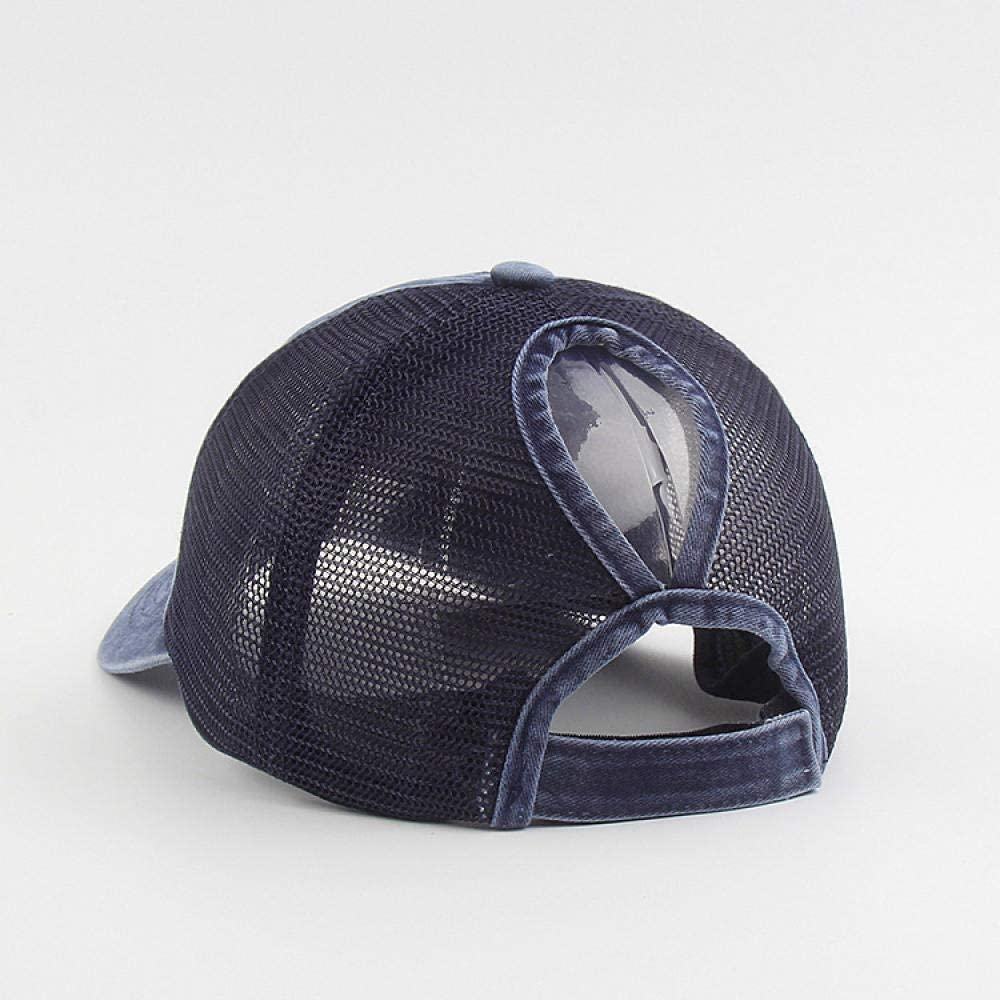 BMKWSG-MAOZi Baseball Cap Men and Women Warm Fashion Denim net Cap Horsetail Bend 檐 Street hat Summer