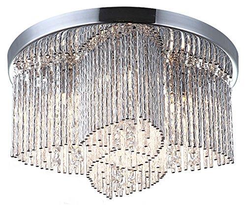 Salón techo (Cristal Sansa Ø35 cm araña de techo Iluminación ...
