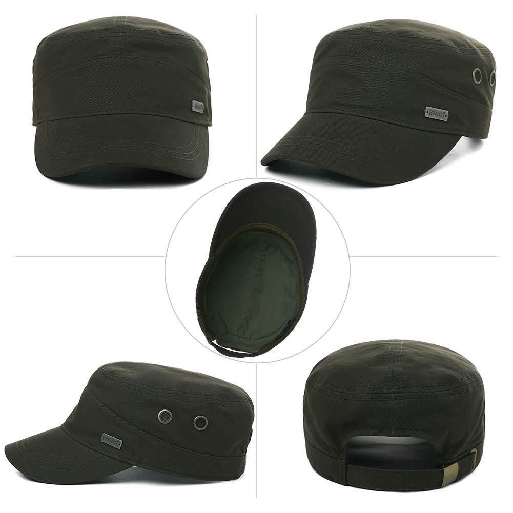 Womens Cotton Army Military Sun Radar Size 8 Combat Hat Men Large Head Baseball Cap XXL Green by Fancet (Image #2)
