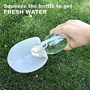 Portable Pet Water Bottle by LumoLeaf, Reversible & Lightweight Water Dispenser for Dogs and Cats, Made of Food-Grade Silicone (20 Oz) 12