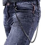 U7 Men Cool Trousers Chain Black Gun Plated Crucifix Design Punk Key Pants Chain