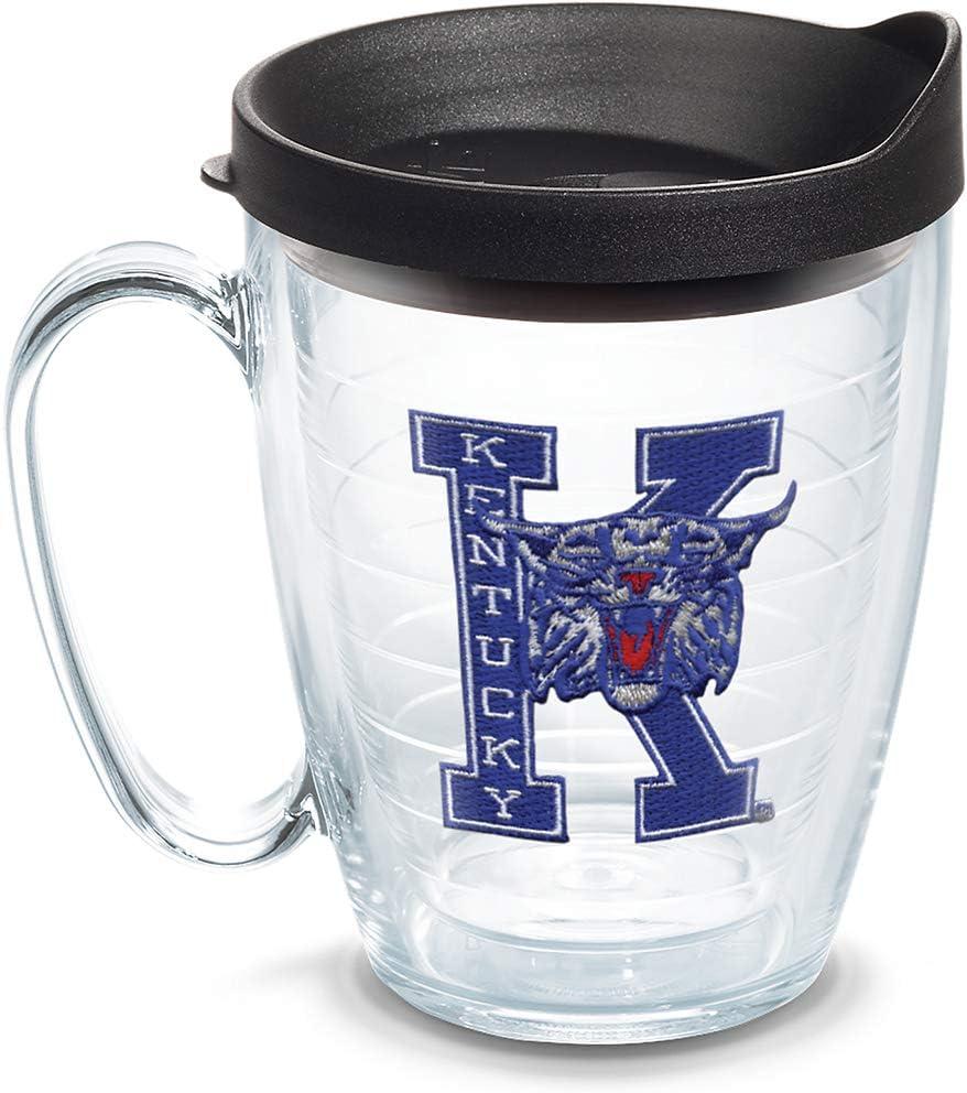 Tervis Kentucky Wildcats College Vault Logo Tumbler with Emblem and Black Lid 16oz Mug, Clear