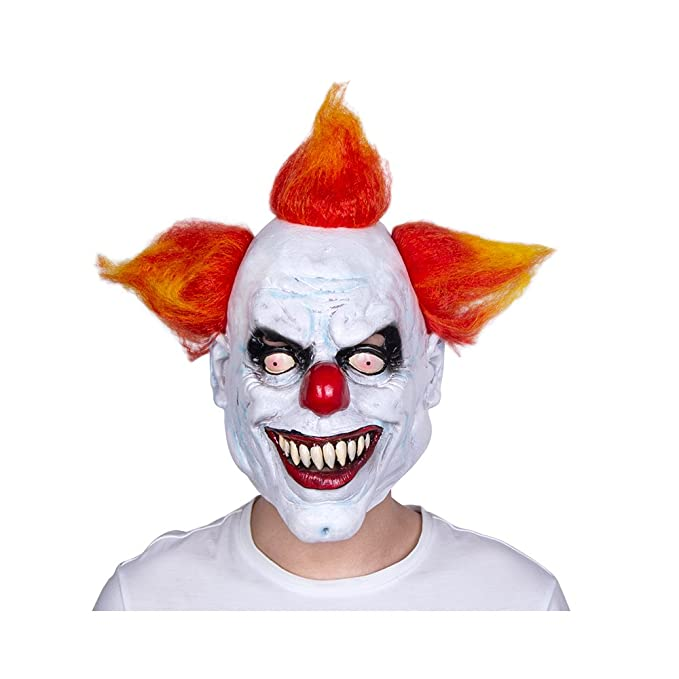 scary clown mask scary mask halloween costume mask latex mask mascara de