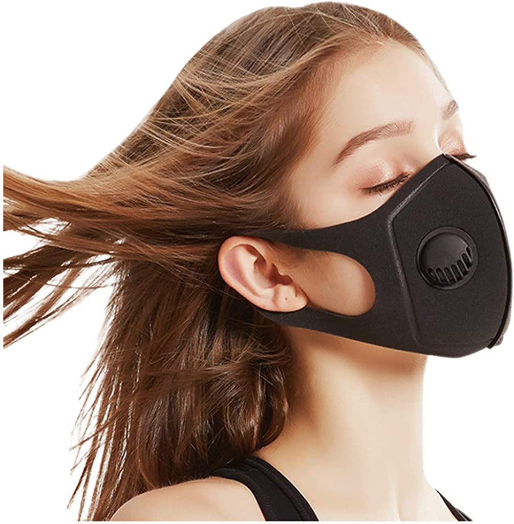 Yhgpom Riutilizzabile Antipolvere Protettivo Lavabile Tessuto La spugna della valvola respiratoria pu/ò essere pulita e confezione antipolvere da 1 pezzo