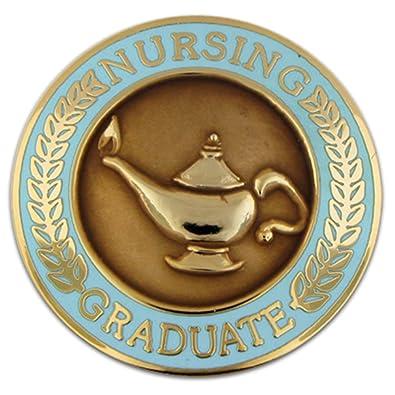 Amazon.com: PinMartu0027s Nursing Graduate Lamp Of Knowledge Circle Teal Enamel  Lapel Pin: Brooches And Pins: Jewelry