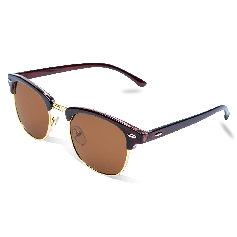 Polarized Mens Sunglasses Womens Classic Half Frame UV 400 Sunglasses For Man and Woman