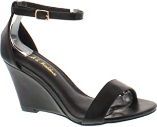 73d84d58c82 Mark and Maddux Elisha-13 Wedge Sandal in Black