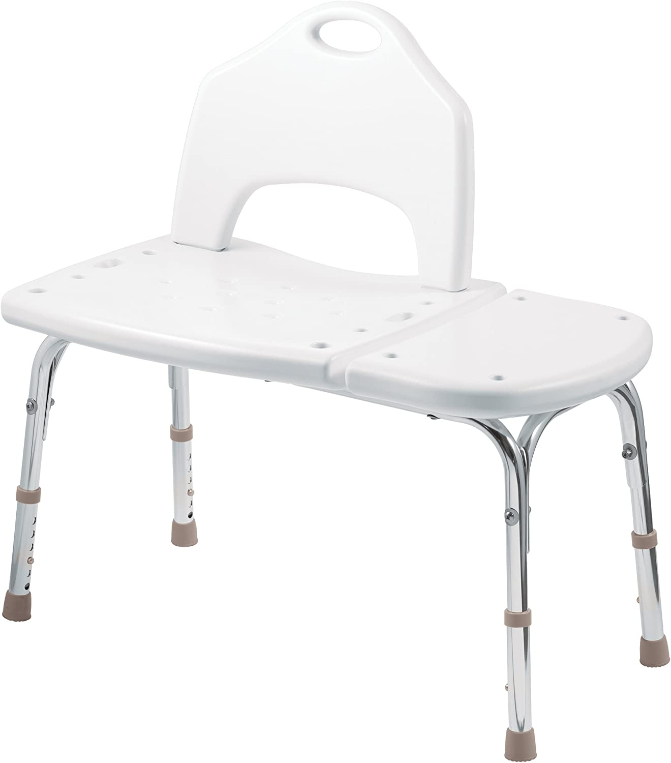 Moen DN7065 Home Care 33.25-Inch W x 19.25-Inch D Adjustable Height Bath Safety Shower Transfer Bench Glacier