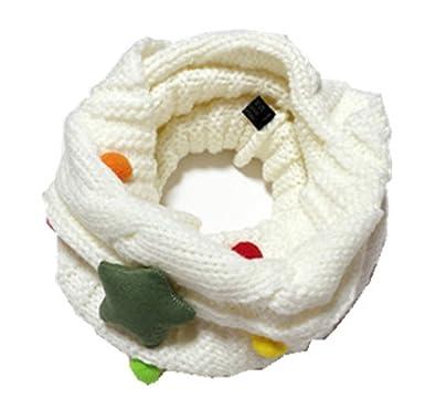 GXY - Écharpe mignon pour enfant et bébé Laine tricotée Tour de cou Foulard  Étoile Collier 29bdd6854fc