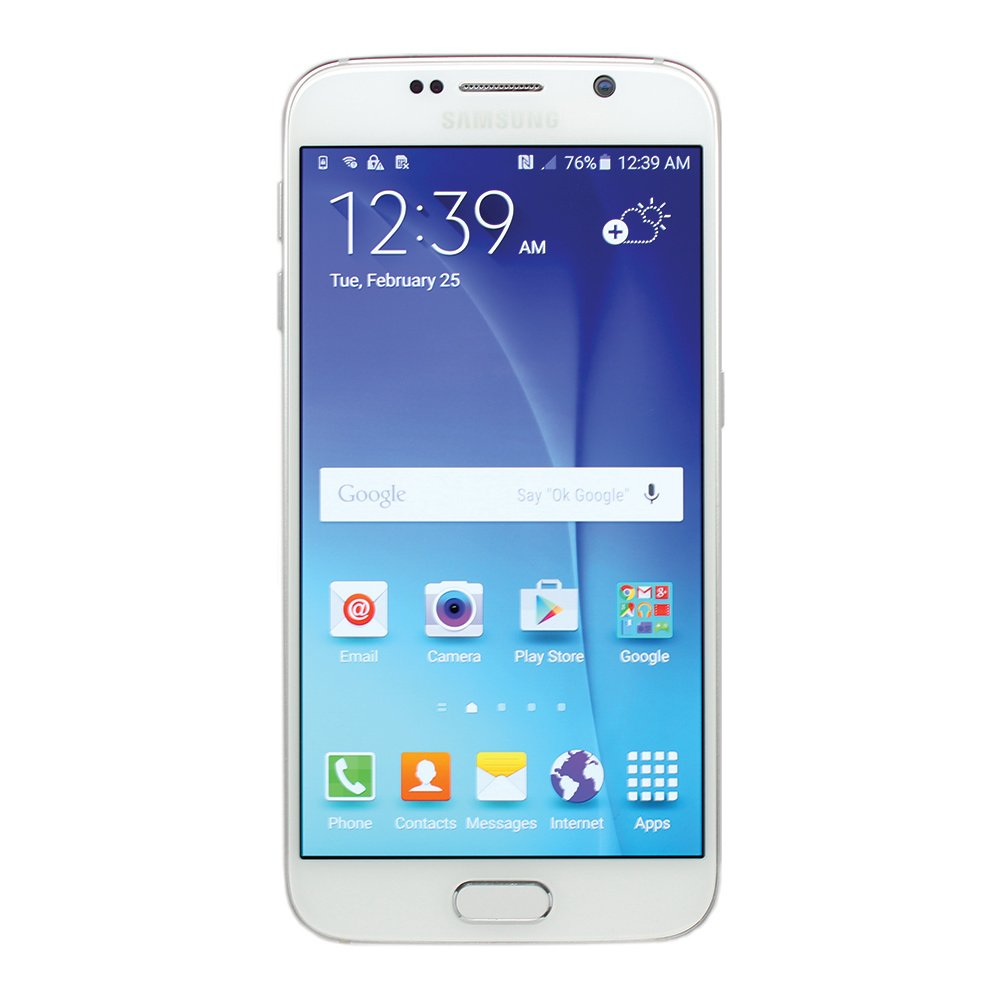 Samsung Galaxy S6 SM-G920A 32GB White Smartphone for AT&T (Certified Refurbished)