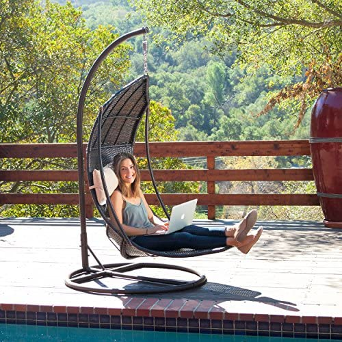 Outdoor Brown Wicker Hanging Cushions
