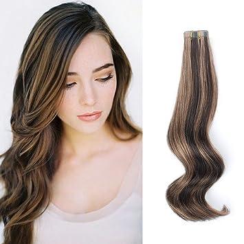 Amazon Com Amazingbeauty Pre Taped 50g 20pcs Real Remy Human Hair