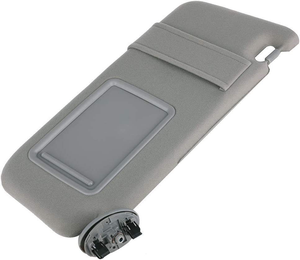 Fit for Toyota Camry Sunvisor 2007 2008 2009 2010 2011 Replace 74310-06750-B0 SKD RV Tech Sun Visor Right Passenger Side Gray Without Sunroof and Light
