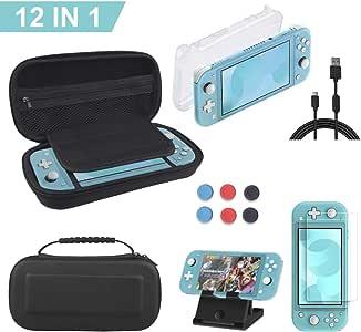 12 en 1 Kit de Accesorios para Nintendo Switch Lite, 1 Funda para ...