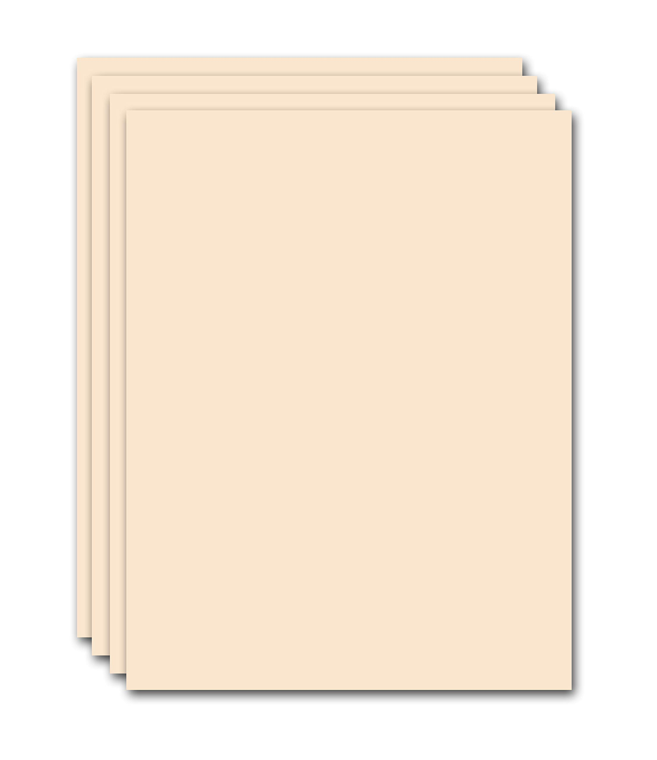 Premium Natural Card Stock Double Thick Heavyweight Paper - 130# Cover (350 gsm) - 8.5'' x 11'' - Pack of 200 Sheets - Cover Smooth Finish