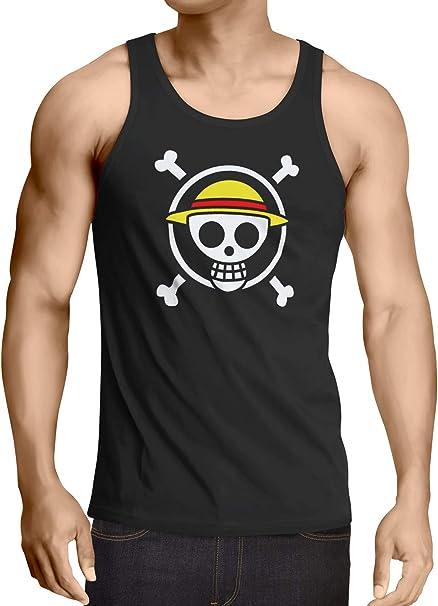 CottonCloud Jolly Roger Herren Tank Top Strohhut Pirat