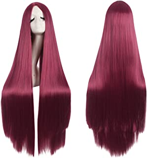 40' 100cm Anime Costume Long Straight Cosplay Wig Party Wig
