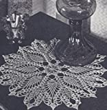 Vintage Crochet Pattern to make - Pineapple Star Doily Motif. NOT a finished item. This is a pattern and/or instructions to make the item only.