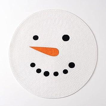 Amazon.com: St. Nicholas Square Christmas Snowman Face Round ...