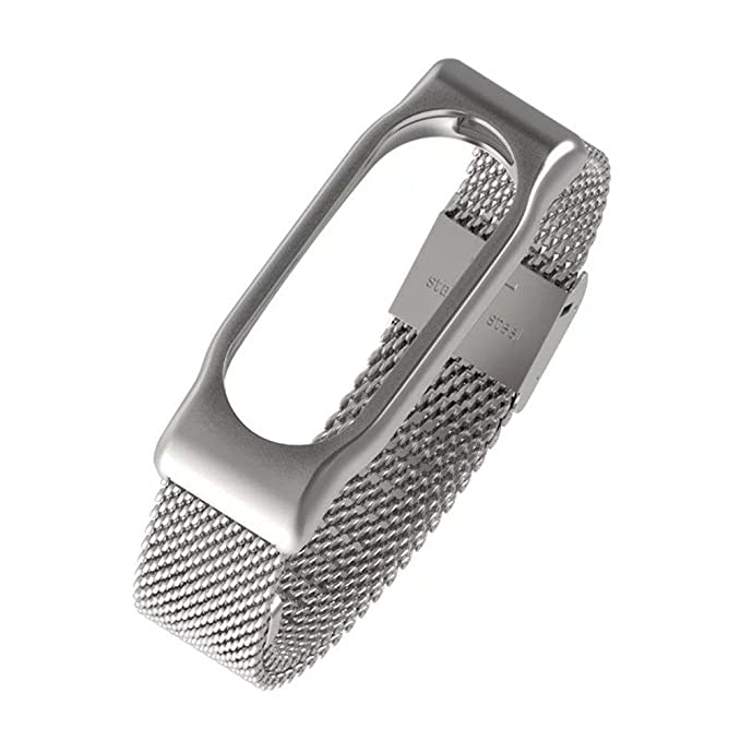 para Xiaomi Mi Band 3 Magnética de Acero Inoxidable de Malla gdfb Pulsera Impermeable Correa de Reloj magnética milanesa de Acero Inoxidable Correa + ...