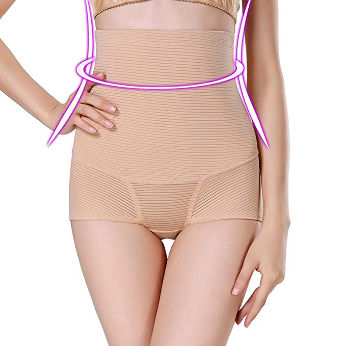 e414791962 AOBRITON Women High Waist Slimming Body Shaper Tummy Belly Control Panties  Corset Briefs Shapewear Girdle Underwear Seamless at Amazon Women s Clothing  ...