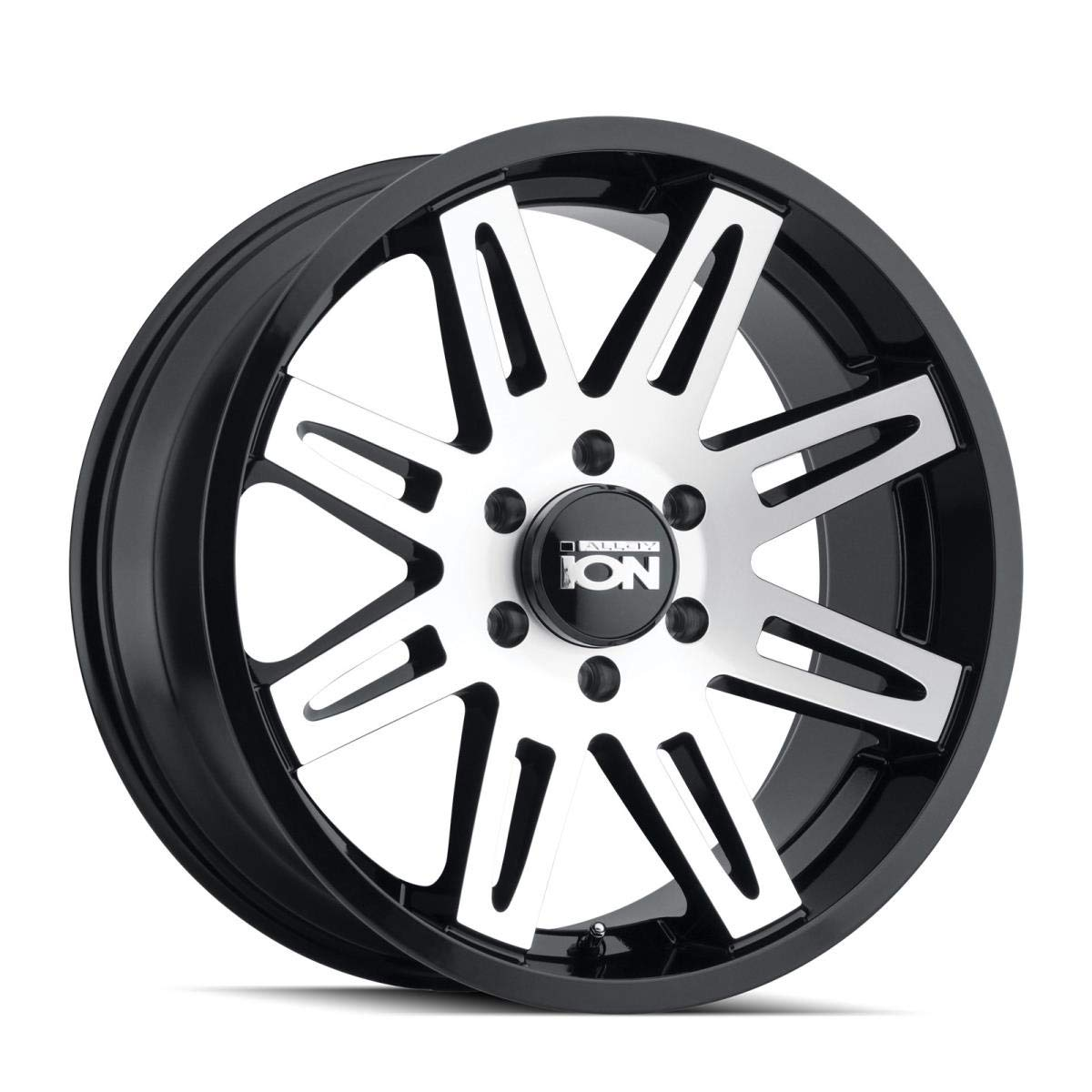 17 x 8. inches //5 x 87 mm, 10 mm Offset ION 186 Wheel with Black//Machined Face