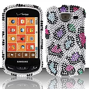 For Samsung Brightside U380 Full Diamond Design Cover Case - Colorful Leopard
