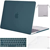 MOSISO MacBook Pro 13 Inch Case 2019 2018 2017 2016 A2159 A1989 A1706 A1708,Plastic Hard Shell Case&Keyboard Cover&Screen Protector&Storage Bag Compatible with MacBook Pro 13 Inch, Deep Teal