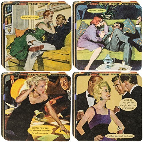 Bags Anne Taintor - Anne Taintor18pc Drink Coasters Set For Drinks Glasses Funny Unique Quotes & Photos