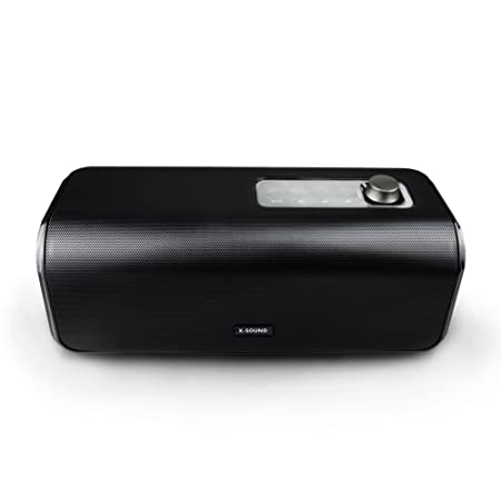 Bluetooth Speakers, 1STPLAYER X-Sound 30W Portable Bluetooth 4.0 Wireless Stereo HD Speaker w Loud, Powerful Bass, USB Flash Drive Support PowerBank Perfect for Beach, Pool, Golf Home – Black