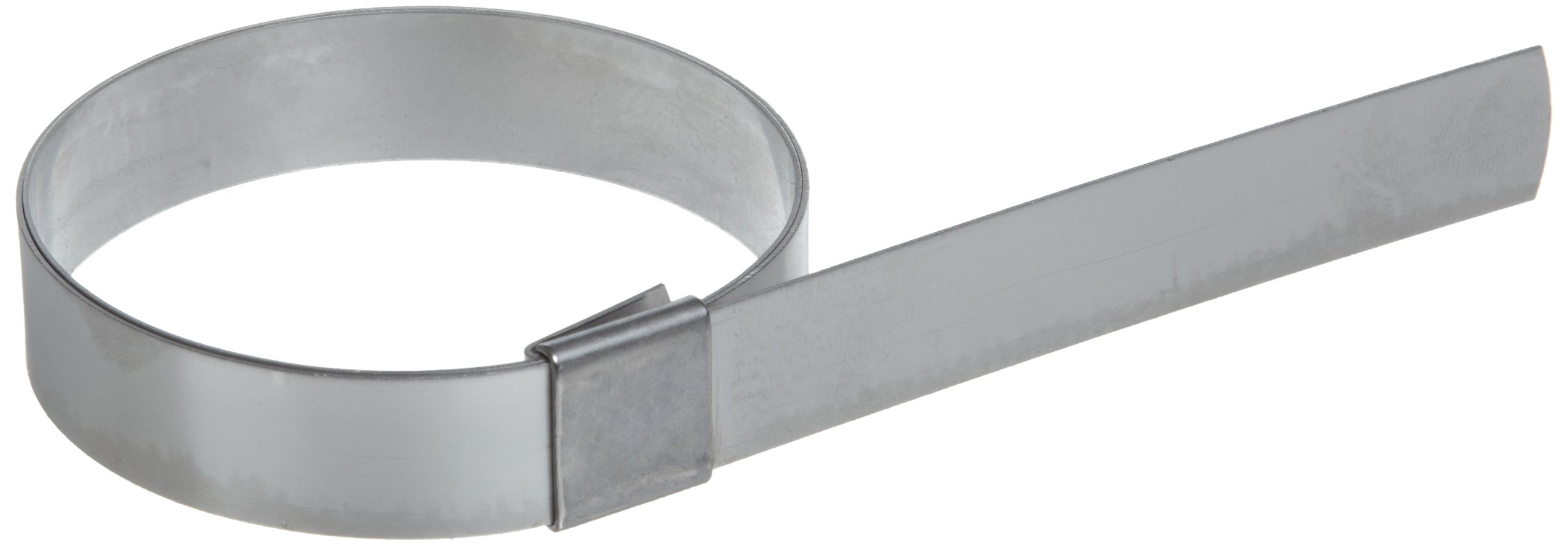 BAND-IT CP11S9 5/8'' Wide x 0.025'' Thick 2-3/2'' Diameter, 201 Stainless Steel Center Punch Clamp (50 Per Box)