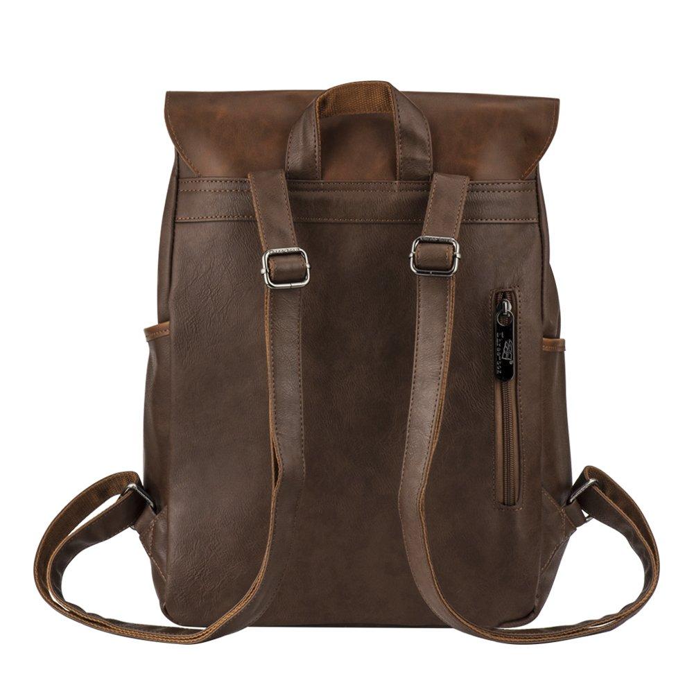 Vintage PU Leather Laptop Backpack 8d894a456f95d