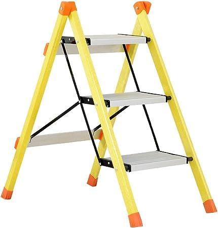 Li jing home Escalera Escalera Plegable casera Elegante Escalera de Tres Peldaños Escalera de Pedal de Aleación de Aluminio Escalera aislada Plegable Fácil de Llevar (Color : Yellow): Amazon.es: Hogar
