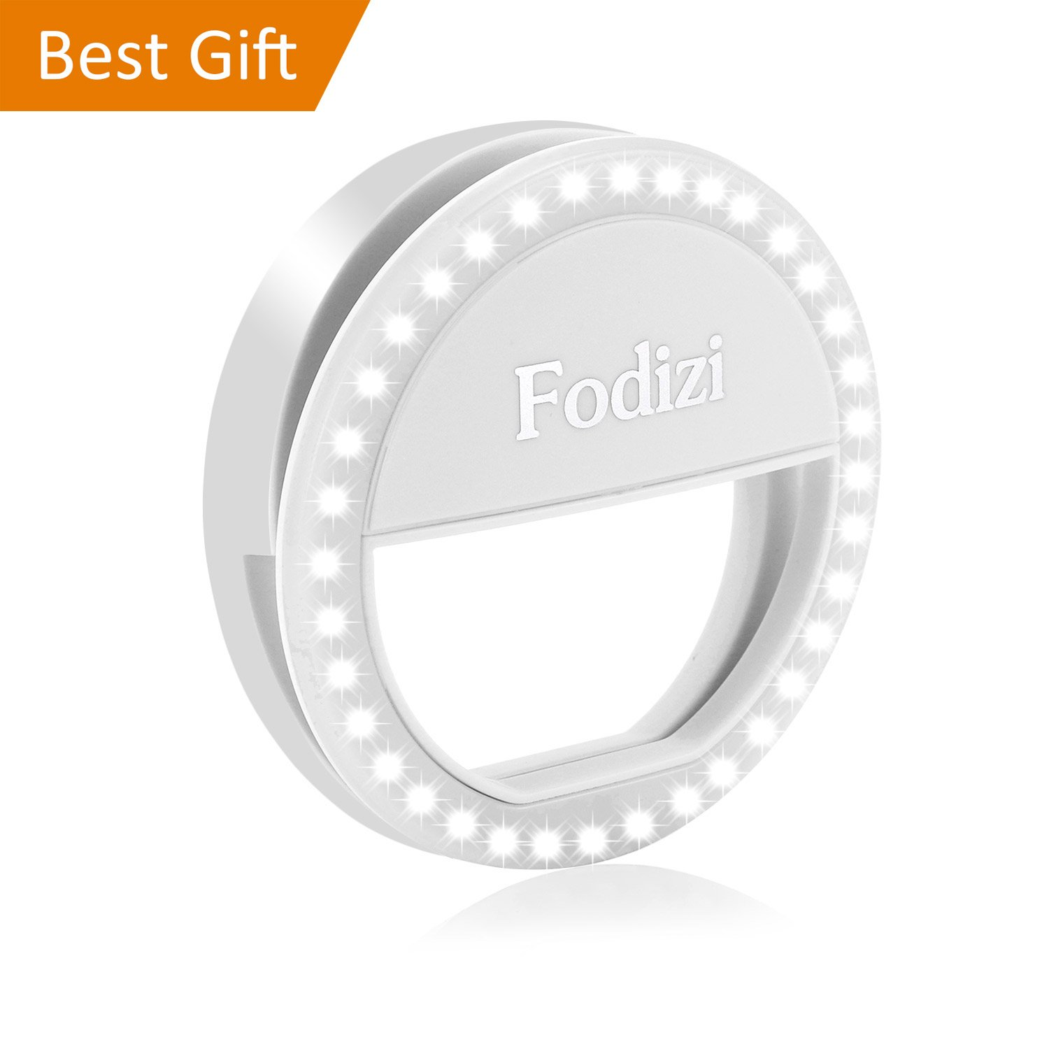 Fodizi Selfie Ring Light Clip On Light for Phone Camera 【2018s】36 Led Ring Light for iPhone iPad Photography - White