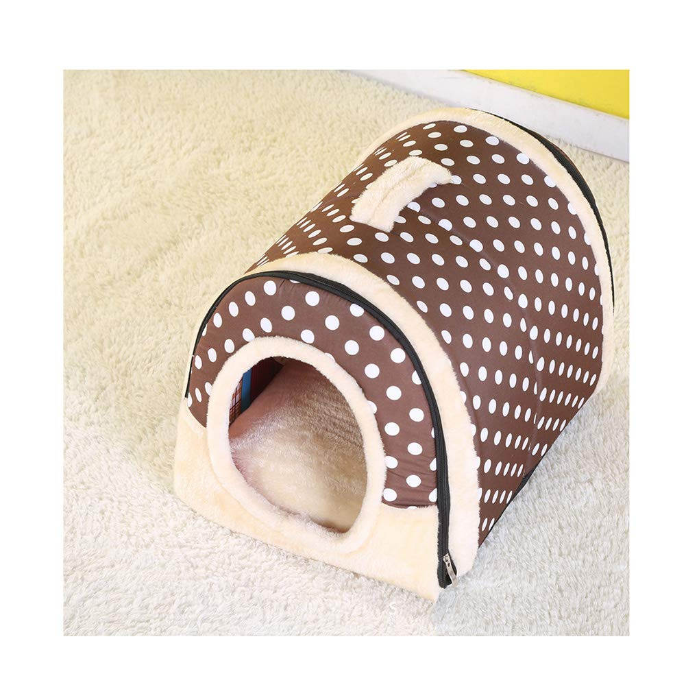 Brown M Brown M Pet bed,kennel,Luxury Cozy 2-in-1 Pet House and Sofa, High Quality Indoor Portable Foldable Dog Room Cat Bed.
