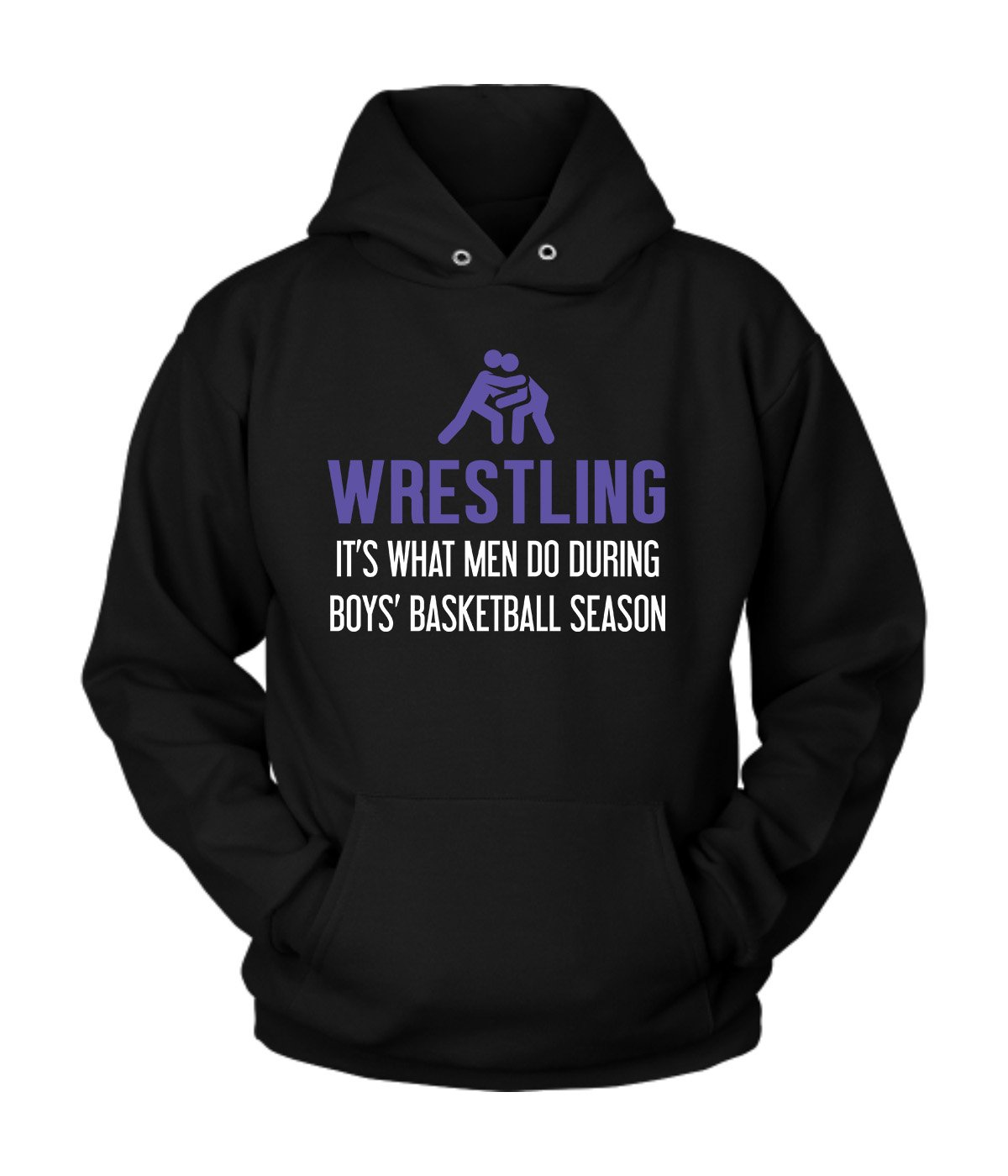 Wrestling Hoodie | Wrestling Cotton Fleece Hoodie | Great Hoodie with a Creative Quote about Wrestling (M) by District Hoodies