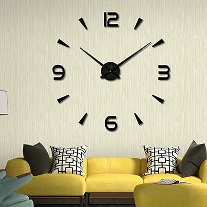 amazon com super big clock creative wall clocks living room diy art rh amazon com