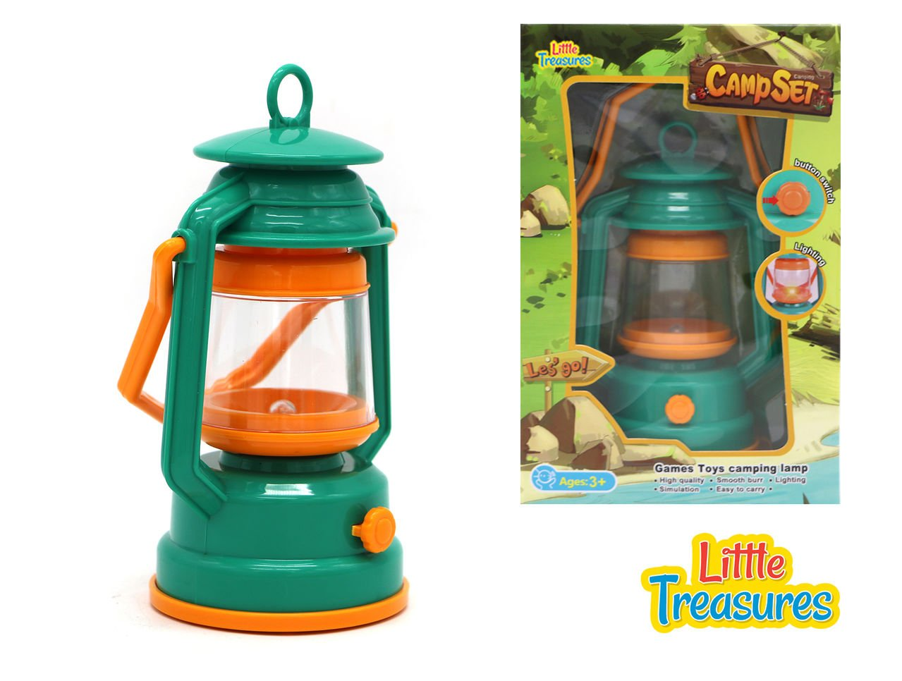 Camping Toy Lantern Camp Set pretend play with Button Switch on Light from Little Treasures