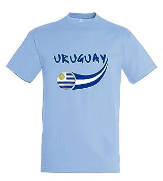 Supportershop – Camiseta Uruguay para niño, Azul Cielo, FR: 2 x l (Talla