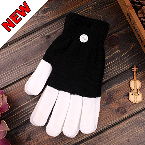 TOPLAND™ Halloween Costume Gloves - 6 Flashing Mode LED Rave Light Glow Gloves - Great for Concert, Night Run, Party, (Cheap Costume Ideas Halloween)